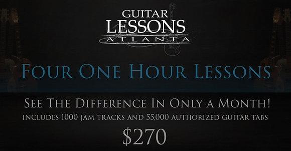Four Guitar Lessons