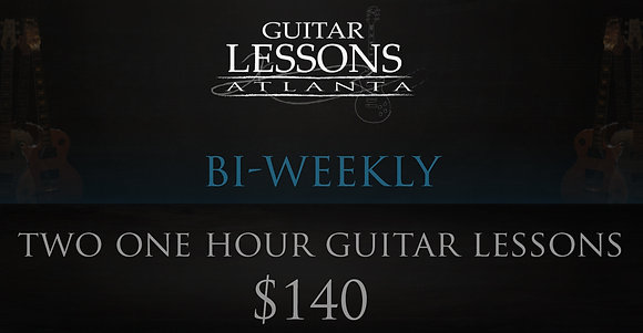 Two One Hour Guitar Lessons (Bi-Weekly)