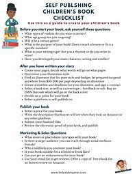 Self publishing children's book checklis