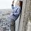 Veste matelassée MANUELLE gris rayé SIXSŒURS Fabriqué à Paris mode plage