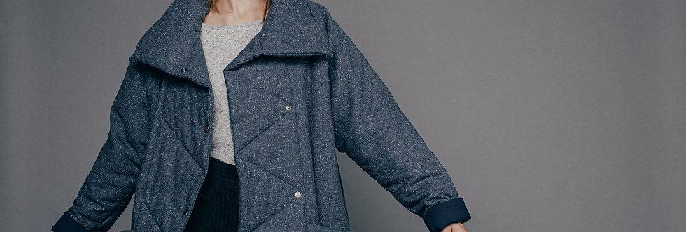 Veste manteau ouatinée Gaëlle Sixsoeurs Fabriqué à Paris