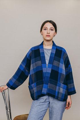 Veste kimono FRAMBOISE lainage italien fabriquée à Paris