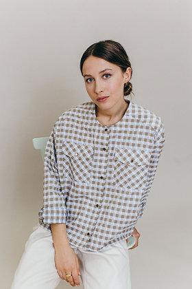 Chemise à carreaux tissu japonais MYLENE Sixsoeurs Fabriqué à Paris
