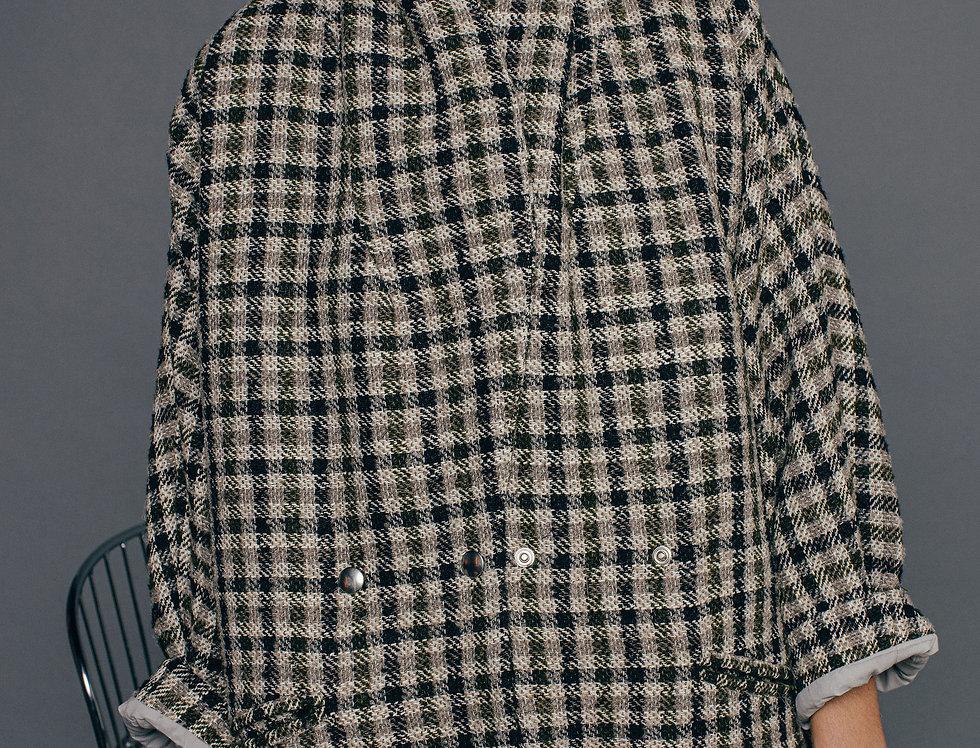 Manteau carreaux PANPANPONYO Sixsoeurs Fabriqué à Paris face