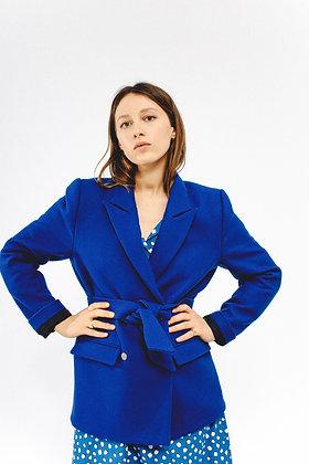 Blazer SARAH bleu klein SIXSŒURS Fabriqué à Paris allure taille