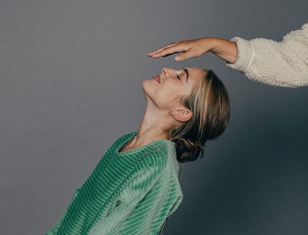 Sweat velours vert ALIZÉ Sixsoeurs Fabriqué à Paris mode