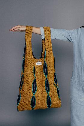 cabas XXL en wax MARIE-FRANÇOISE  SIXSOEURS Fabriqué à Paris mode