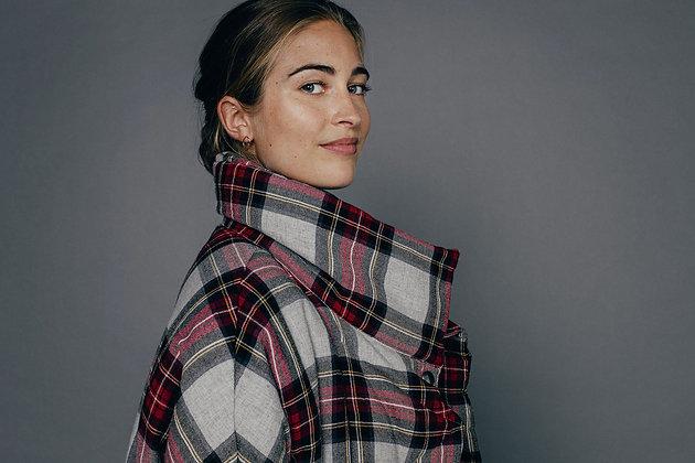Veste manteau ouatiné MARGUERITE Sixsoeurs Fabriqué à Paris col