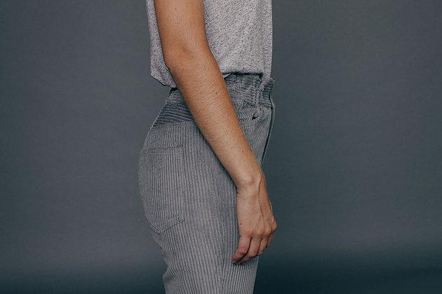 Pantalon velours gris GAÏA Sixsoeurs Fabriqué à Paris fesses