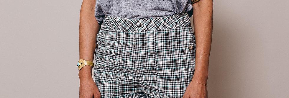 Pantalon à carreaux femme NINON - Face