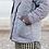 Veste matelassée MANUELLE gris rayé SIXSŒURS Fabriqué à Paris poches