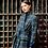 Blazer NADIA bleu carreaux gris SIXSŒURS Fabriqué à Paris mode