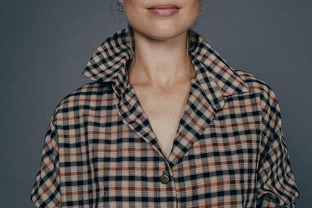 Chemise à carreaux YASMINE Sixsoeurs Fabriqué à Paris col