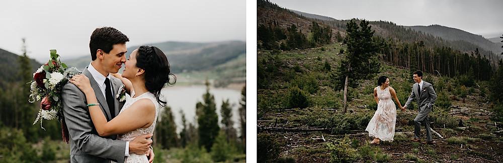Bride and Groom Portraits sapphire Point Breckenridge