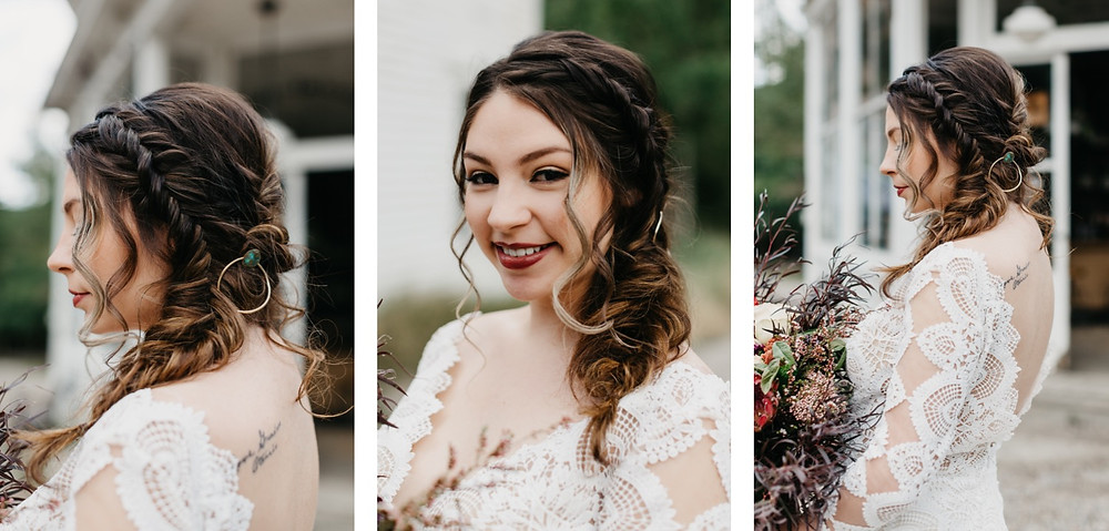 Bride hair and makeup details Bread bar silver Plume Colorado