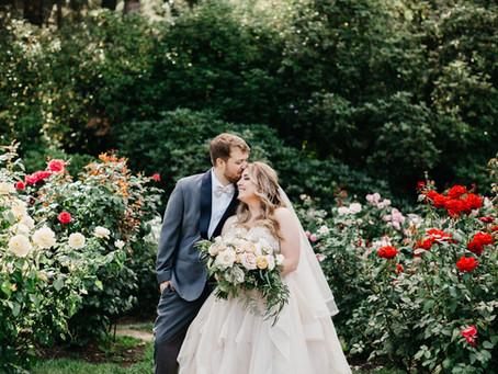 AN INTERNATIONAL ROSE TEST GARDEN WEDDING IN PORTLAND