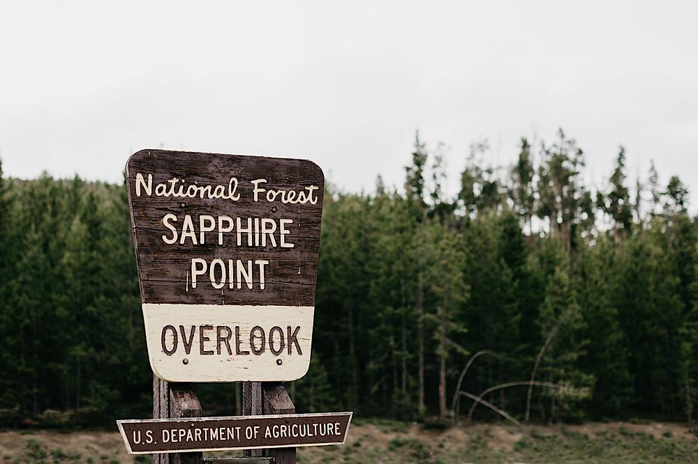 National Breckenridge Forest Overlook Colorado wedding Sapphire Point