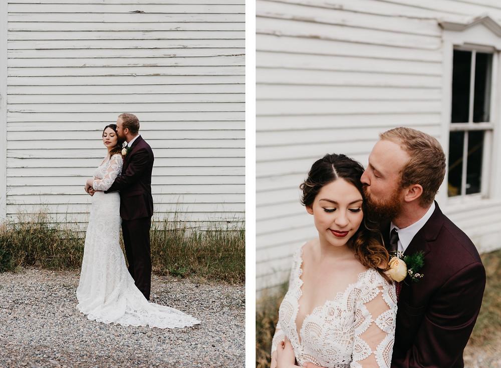 Bride and Groom Portraits Bread bar silver Plume Colorado