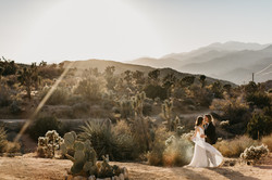 An elopement in Joshua Tree, California