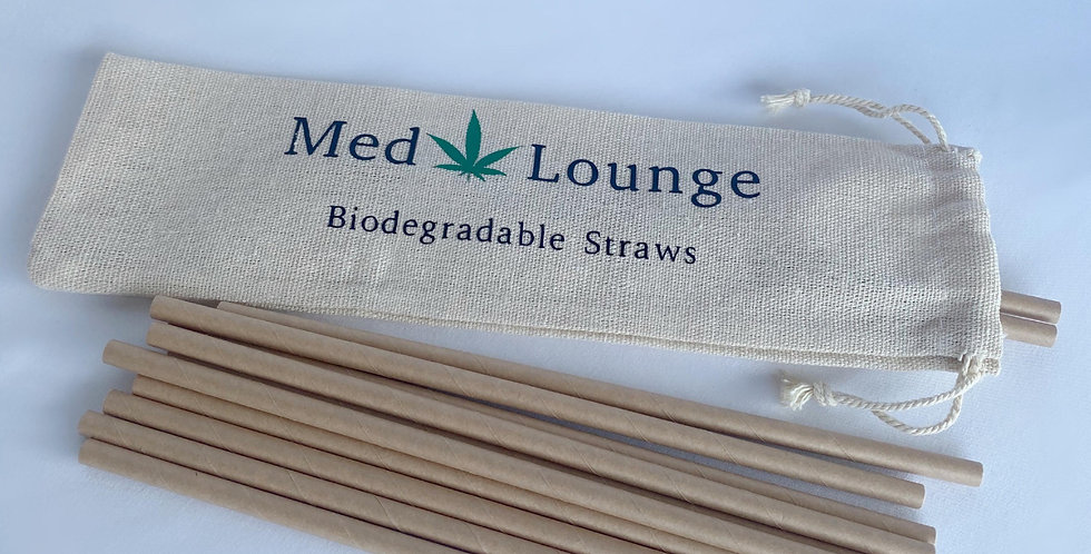 Biodegradable Paper Straws(12 pack)