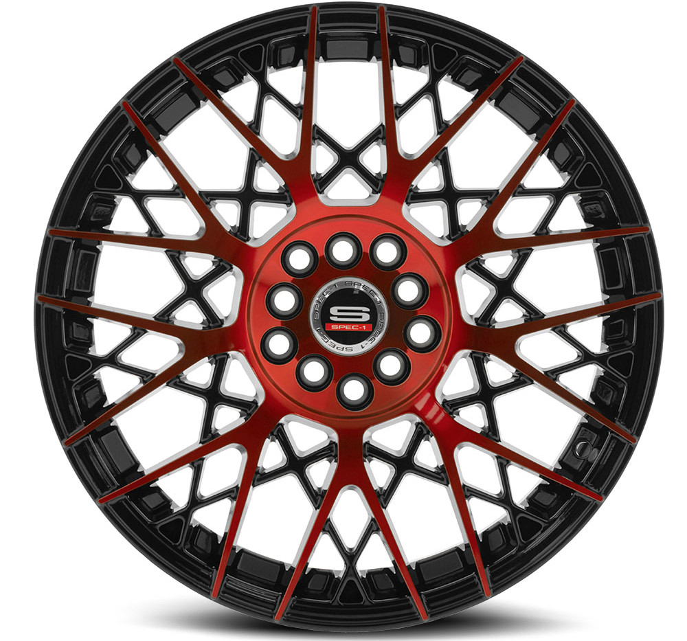 SP-53 Gloss Black & Red Machined