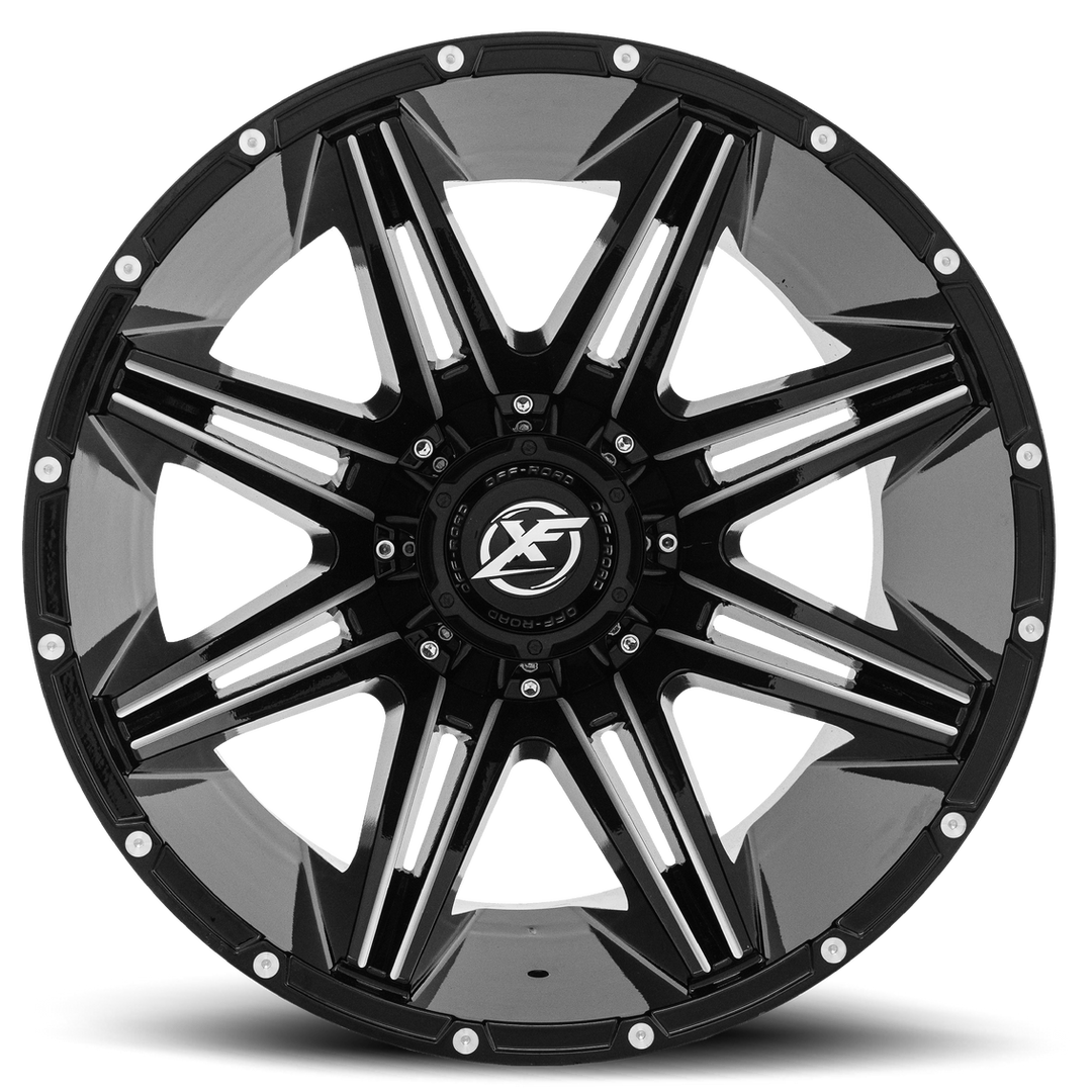 XF-220 20x12 Black and Milled Front Hi (