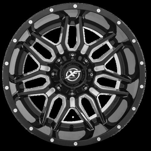 XF-222 Gloss Black Machined Front Hi (1)