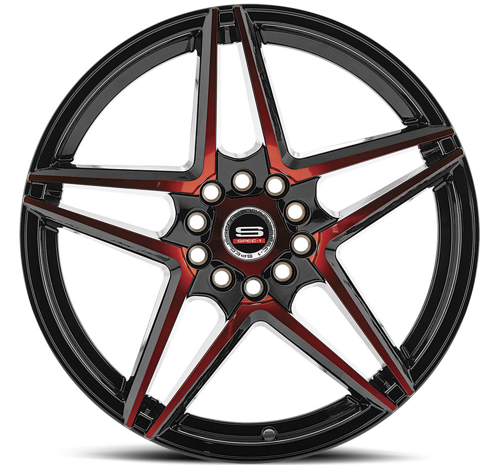 SP-54 Gloss Black & Red Machined