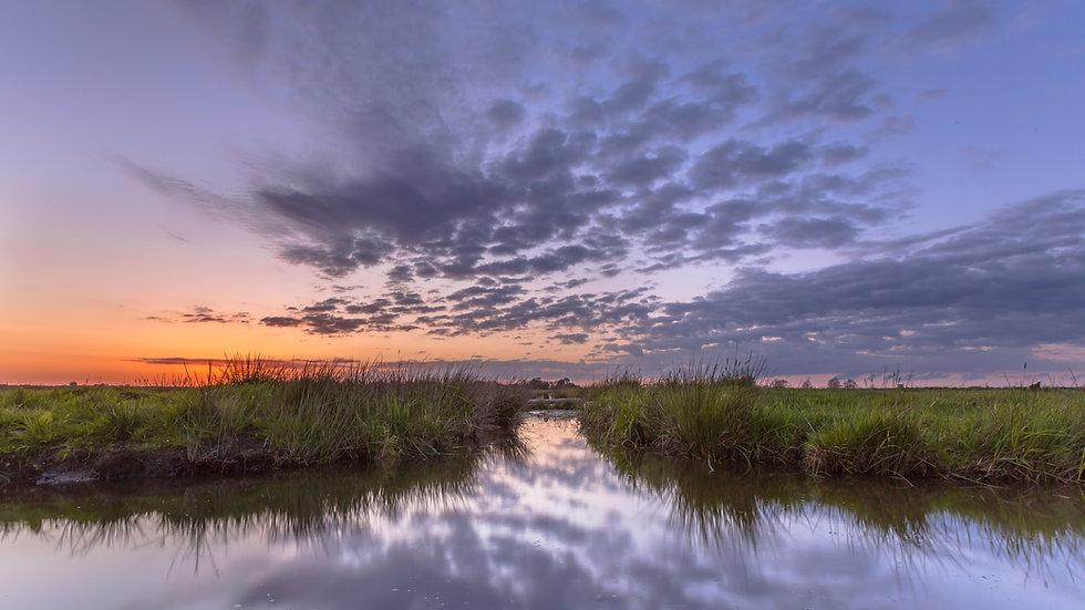 sunset-over-waterway-split-PKDQEKR.jpg