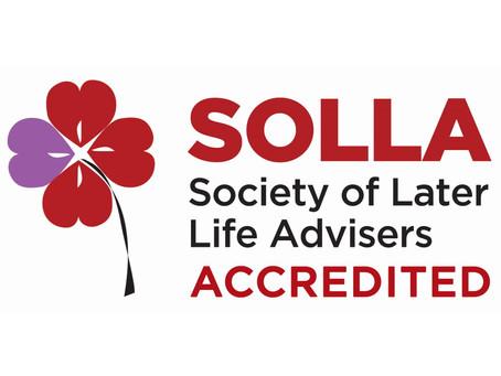 Richard Hitchell achieves the SOLLA Later Life Adviser Accreditation (LLAA)