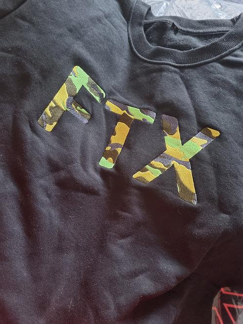 FTX SWEAT TOPS-Black Camo