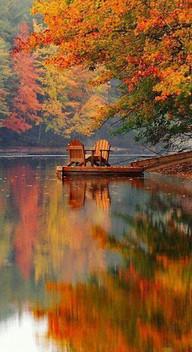 Autumn Muskoka Chairs on Dock.jpg