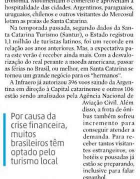 Artigo publicado no Jornal Diário Catarinense sobre a temporada