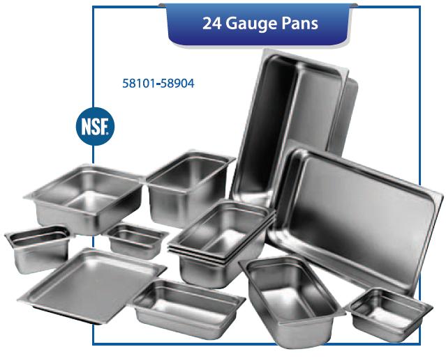 STEAM TABLE PANS & COVERS (24 GAUGE STEEL)