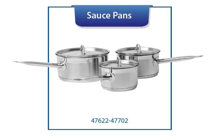 SAUCE PANS WITH COVER, INDUCTION CAPABLE