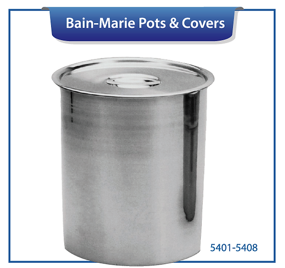 BAIN-MARIE POTS & COVERS