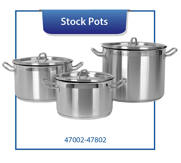 STOCK POTS WITH COVER, INDUCTION CAPABLE