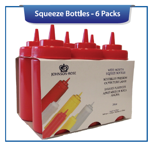 SQUEEZE BOTTLES - 6 PACK