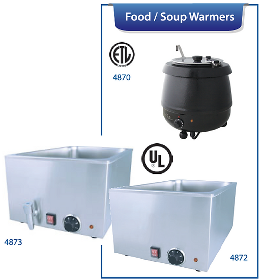 HOT FOOD WARMERS/SOUP WARMER