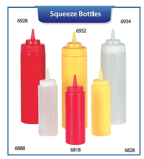 SQUEEZE BOTTLES AND CAPS