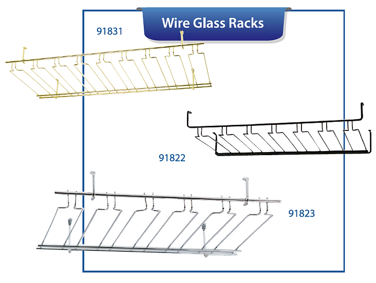 OVERHEAD GLASS RACKS