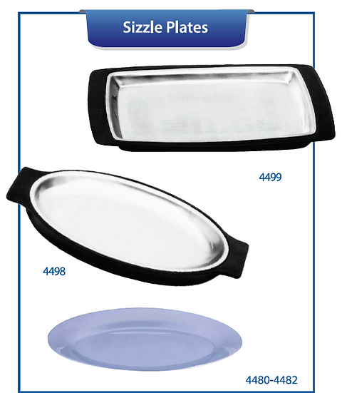 SIZZLE PLATTERS & HOLDERS