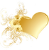 Golden heart pattern.Transparent.png