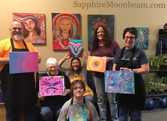 Intuitive abstract art class with Sapphire Moonbeam