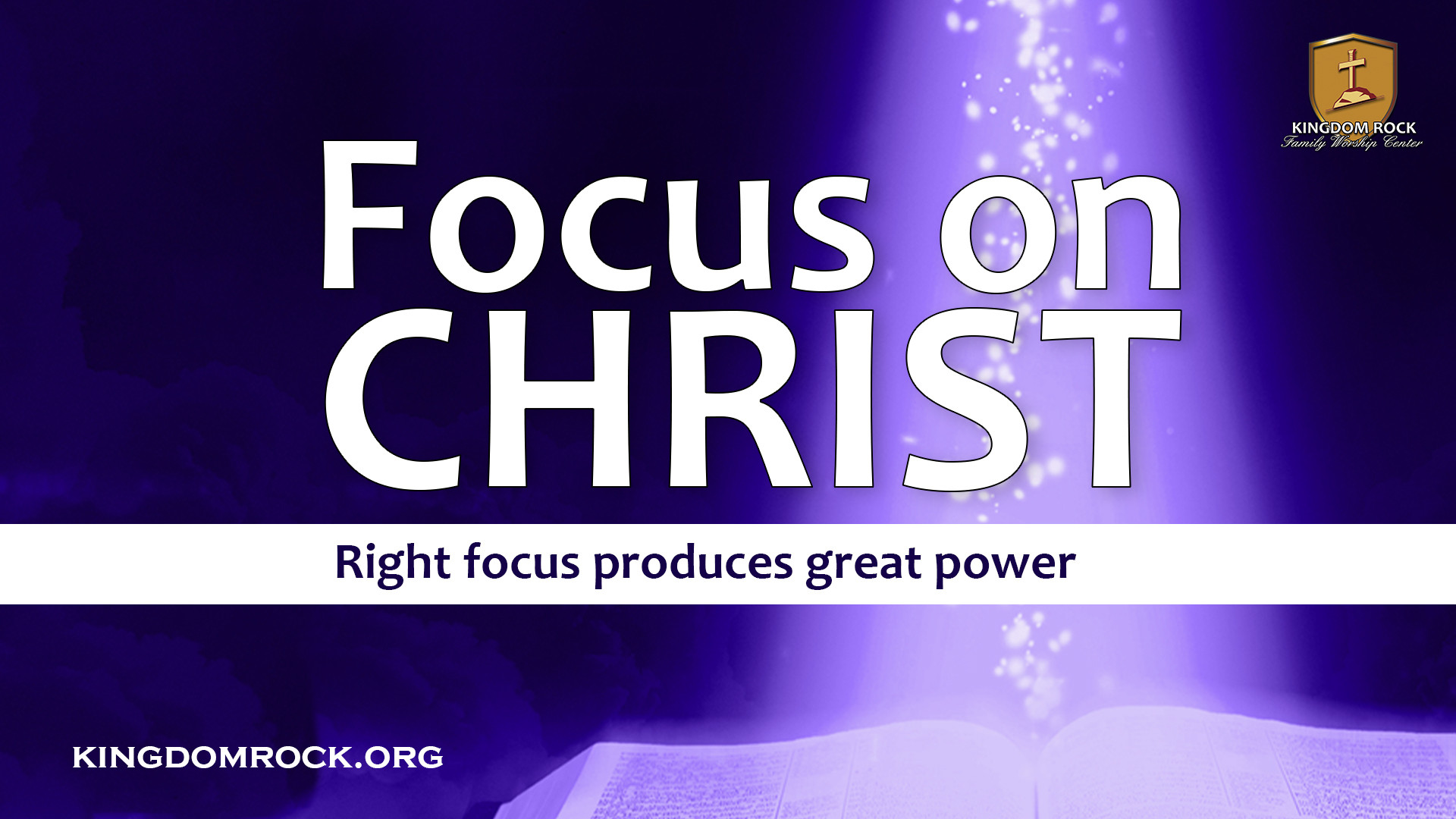 Focus On Christ series