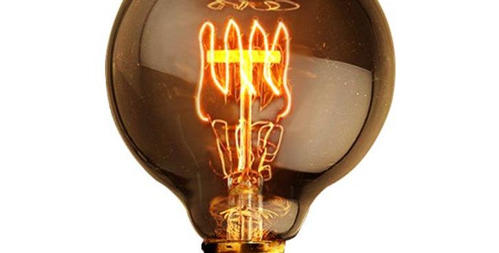 หลอดไฟไส้เอดิสัน edison bulb G95-QL 40w ขั้วไฟ e27 สไตล์วินเทจ
