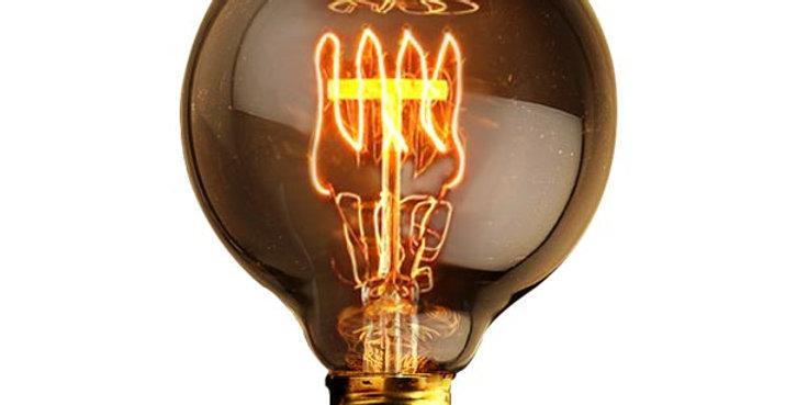 หลอดไฟไส้เอดิสัน edison bulb G80-QL40w ขั้วไฟ e27 สไตล์วินเทจ
