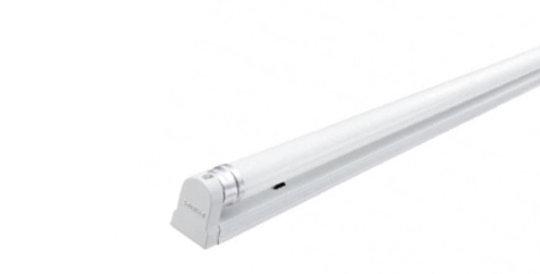 Philips ชุดรางพร้อมหลอด LED Tube BN015C 8W Single Tube 600 mm. Ecofit ฟิลิปส์