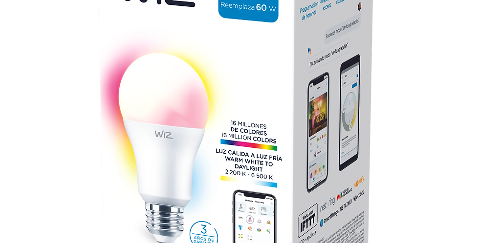 WiZ Wi-Fi Color+TunableWhite/9W A60 12/1CT