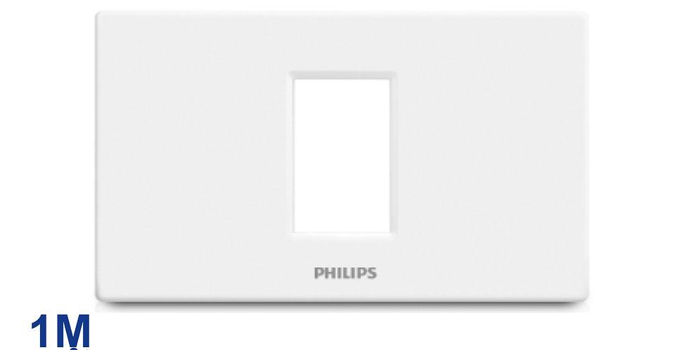 PHILIPS หน้ากาก สวิทช์ ปลั๊ก ฝา 1 ช่อง ฟิลิปส์ รุ่นลีฟ LEAFSTYLE 1M COVER
